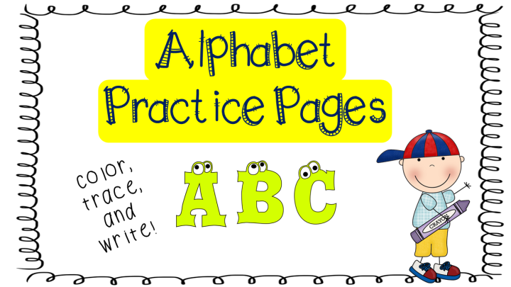 Alphabet Practice for Toddlers & Preschoolers