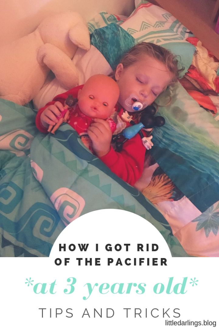 "Saying ""bye"" to the pacifier at 3 years old"